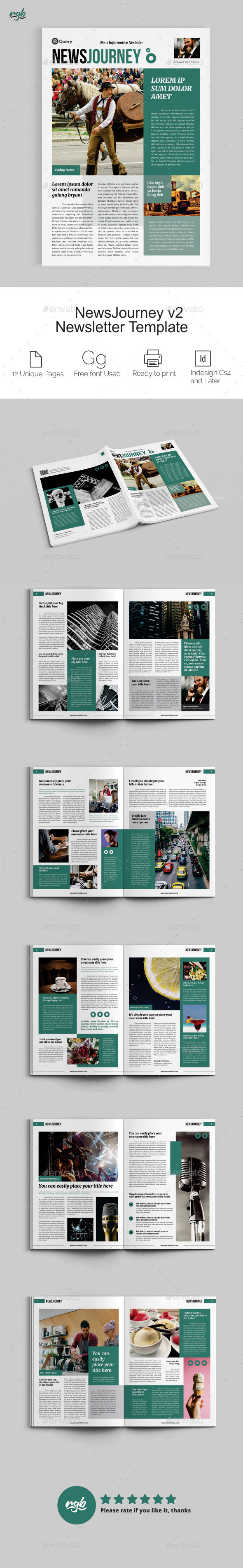 NewsJourney V2 Multipurpose Newsletter - Newsletters Print Templates