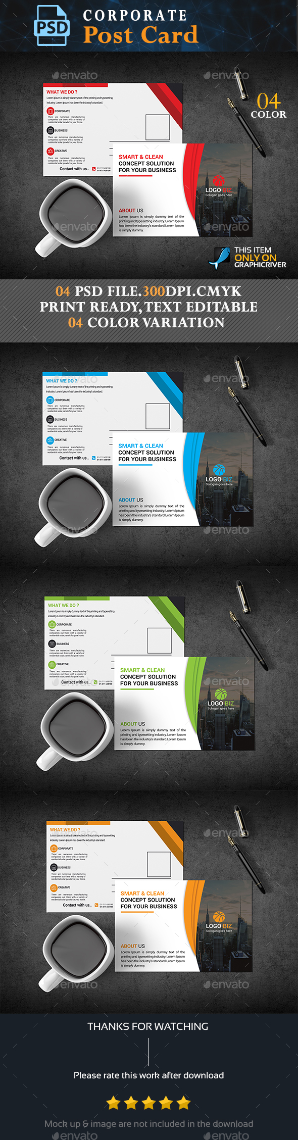 GraphicRiver Corporate Post Card 20564398