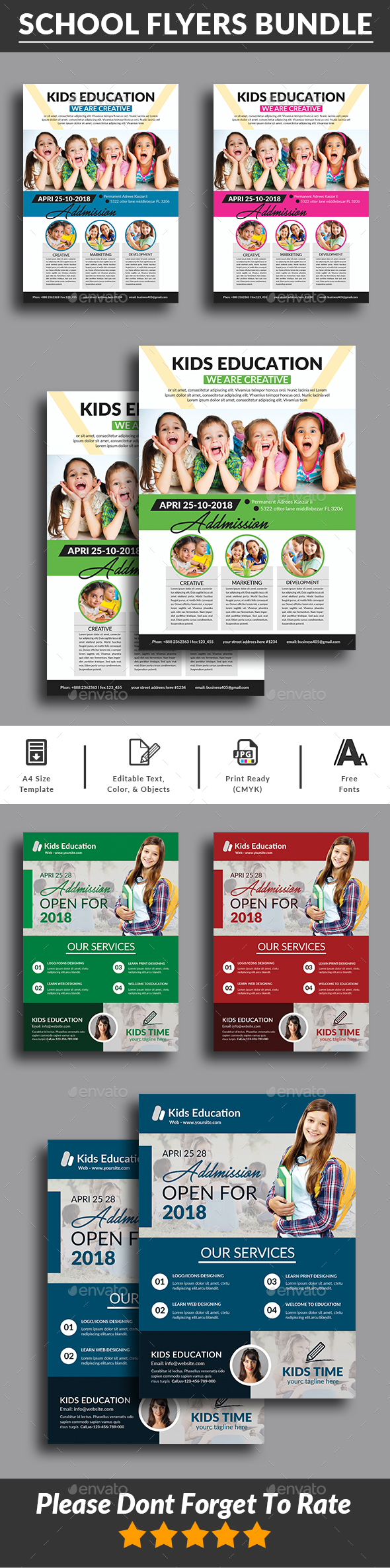 Education Flyers Bundle Templates - Corporate Flyers