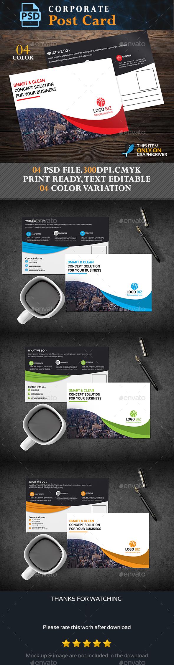 GraphicRiver Corporate Post Card 20564420