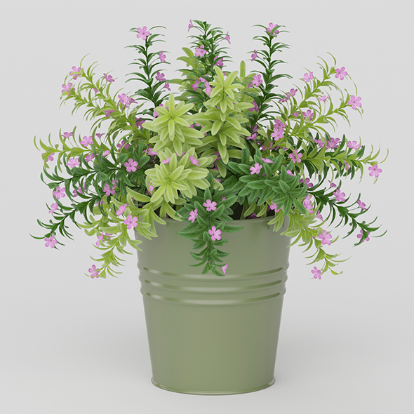 Vray Ready Potted Plant - 3DOcean Item for Sale