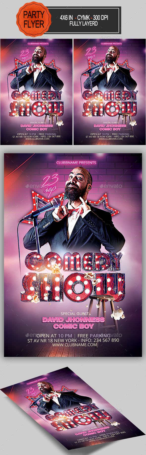 Comedy Show Flyer - Clubs & Parties Events