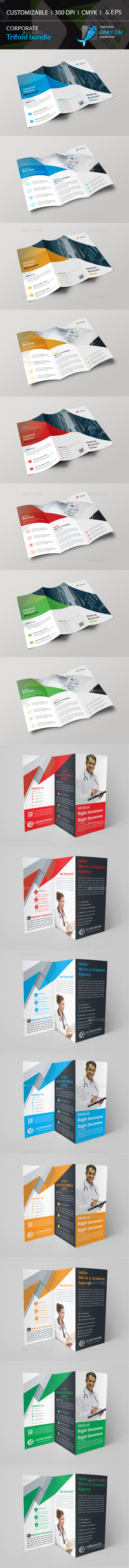 GraphicRiver Trifold Brochure Bundle 20564627