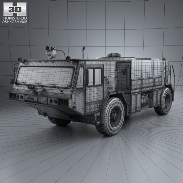 Oshkosh P19 Fire Truck 1984 By Humster3d 3docean