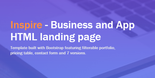 ThemeForest Inspire Business and App Landing Page Template 20453924
