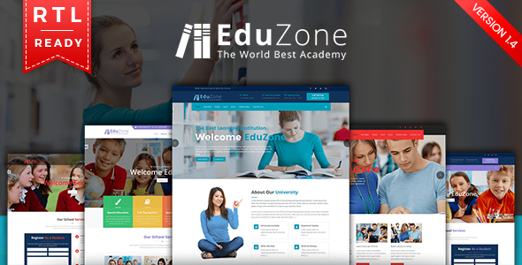 EduZone: An Education, Learning Courses & Institute/College Mobile Responsive Html With RTL - Site Templates
