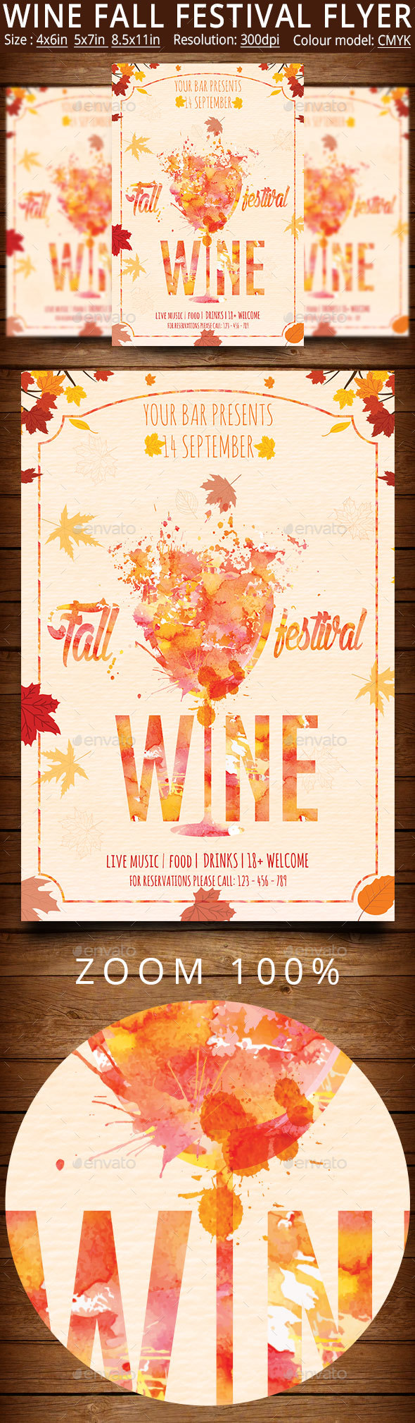 Wine Fall Festival Flyer And Poster - Events Flyers