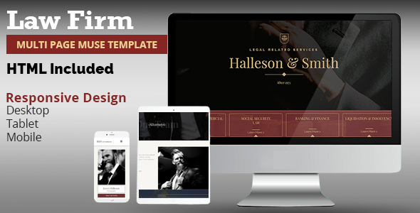 Law Firm Muse Template - Corporate Muse Templates