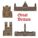 English Travel Landmark of Great Britain Thin Icon