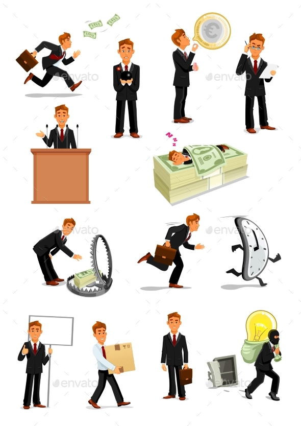 Businessman Character Set, Business People Design - Concepts Business