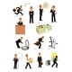 Businessman Character Set, Business People Design