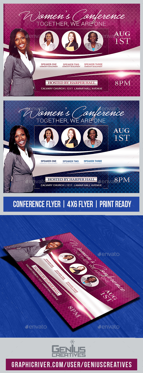 Women's Conference Church Flyer - Church Flyers