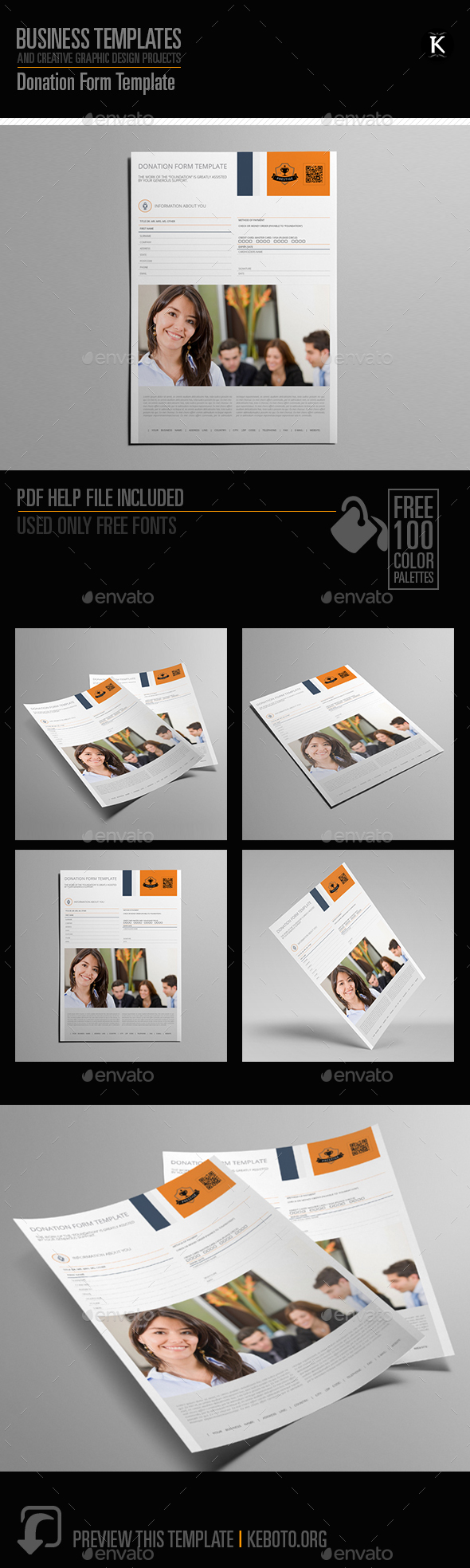 GraphicRiver Donation Form Template 20565882
