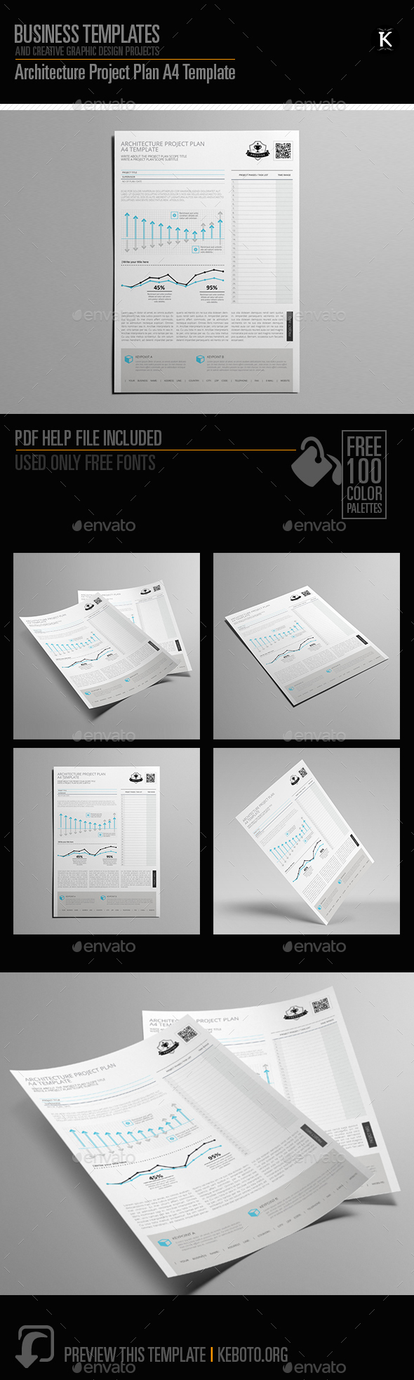 Architecture Project Plan A4 Template - Miscellaneous Print Templates