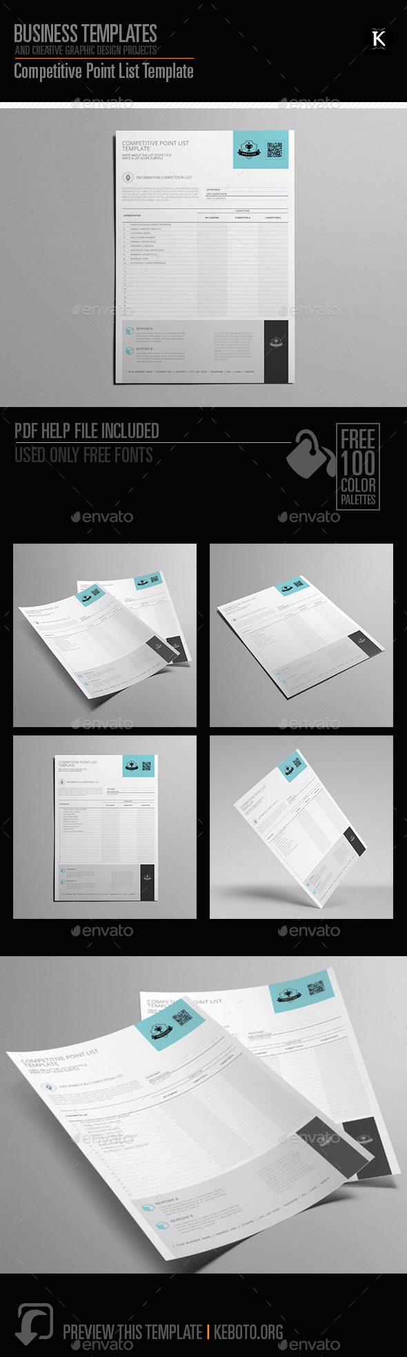 GraphicRiver Competitive Point List Template 20565959