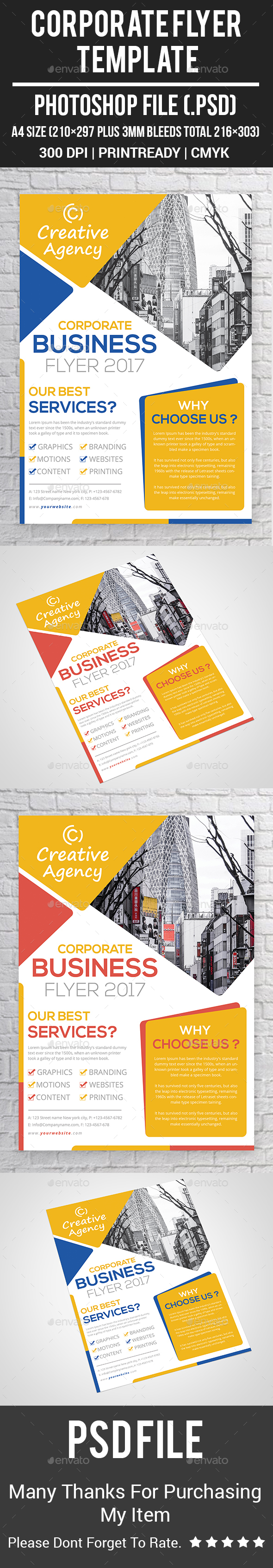 GraphicRiver Corporate Flyer Template 20565988