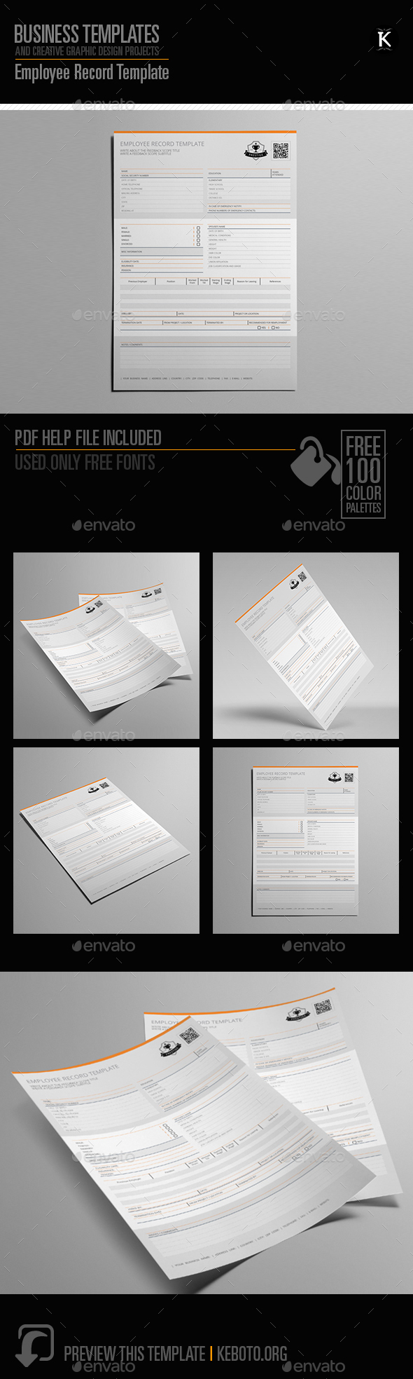 GraphicRiver Employee Record Template 20565994