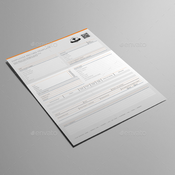 Employee Record Template by Keboto   GraphicRiver