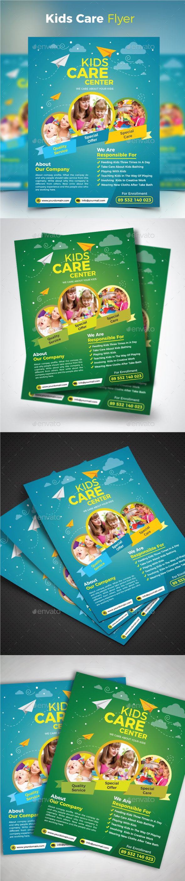 GraphicRiver Kids Care Flyer 20566008