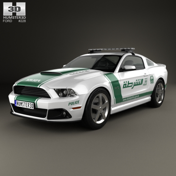 3DOcean Ford Mustang Roush Stage 3 Police Dubai 2013 20566013