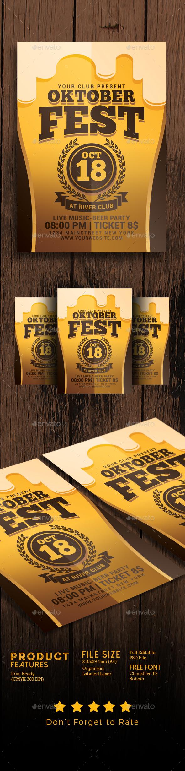 Oktober Festival Flyer - Events Flyers