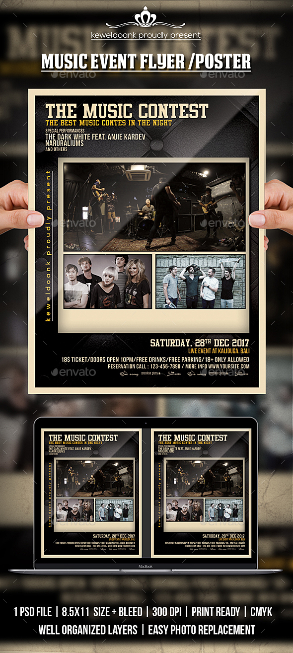 Music Event Flyer / Poster - Events Flyers