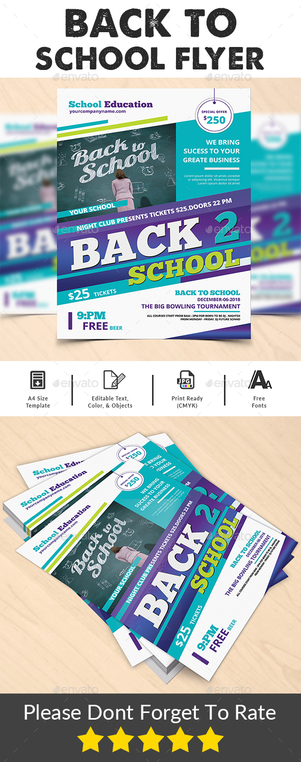 Back To School Flyer - Corporate Flyers