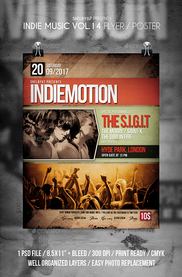 Indie Music Flyer / Poster Vol 14 - Events Flyers