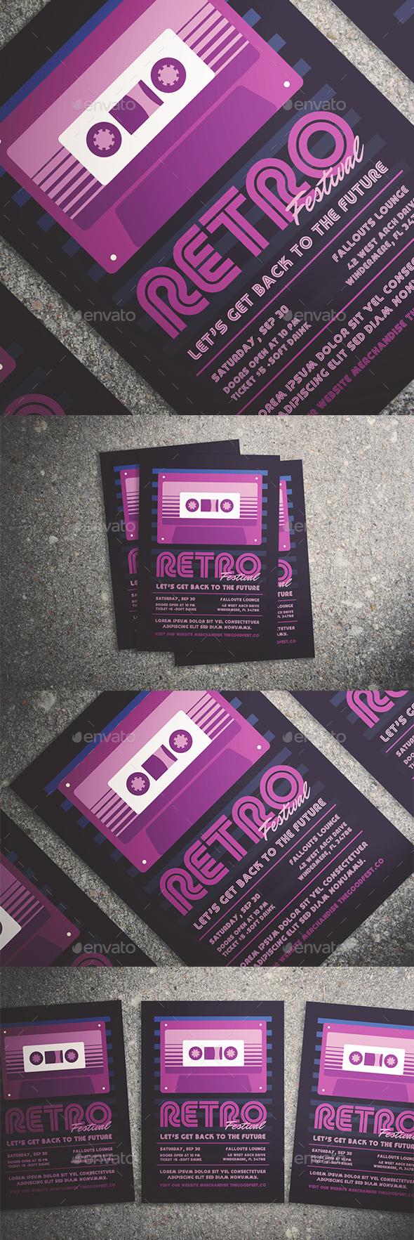 Retro Music Festival Flyer - Events Flyers
