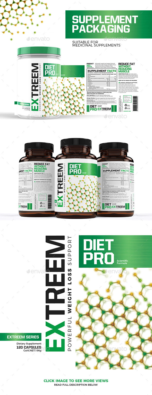 Weight Loss Supplement Packaging - Packaging Print Templates