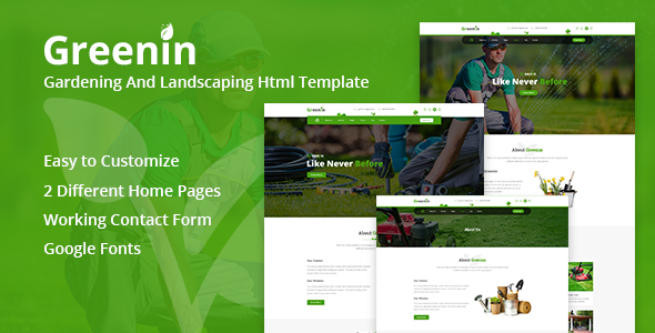 Download Greenin Gardening and Landscaping HTML Template