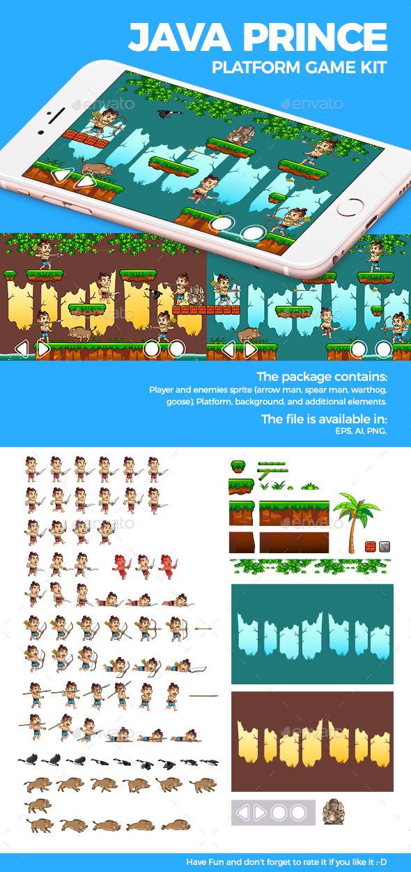 Java Prince Platform Game Kit - Game Kits Game Assets