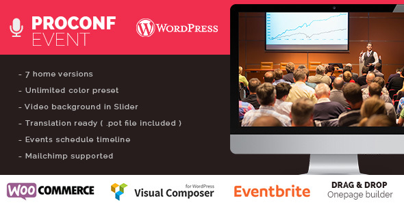 Image of Proconf Event Conference Meetup  WordPress Theme