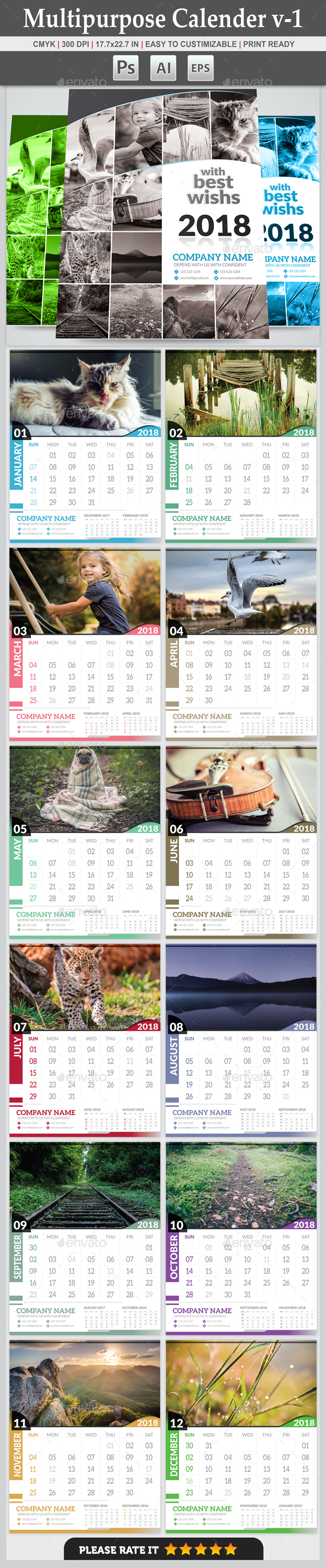Multipurpose Calendar v-1 - Calendars Stationery