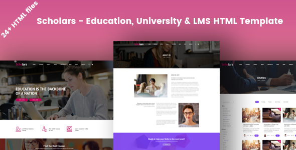 Scholars - Education, University & LMS HTML Template - Business Corporate
