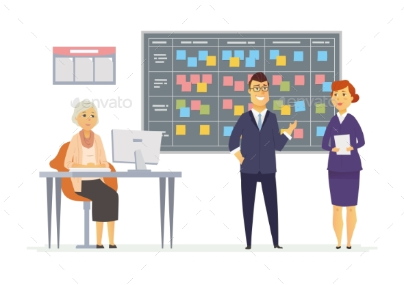 GraphicRiver Office Kanban Planning System Modern Vector 20566994