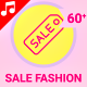 Sale Fashion Shopping Retail Animation - Line Icons and Elements