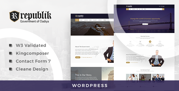 Republik - Government and Municipal Portal WordPress Theme