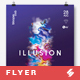 Illusion - Minimal Party Flyer / Poster Artwork Template A3