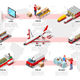 International Trade Logistics Network Isometric Infographic Vector - GraphicRiver Item for Sale