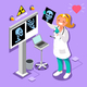 Medical Doctor Radiology Icon Isometric People Cartoon
