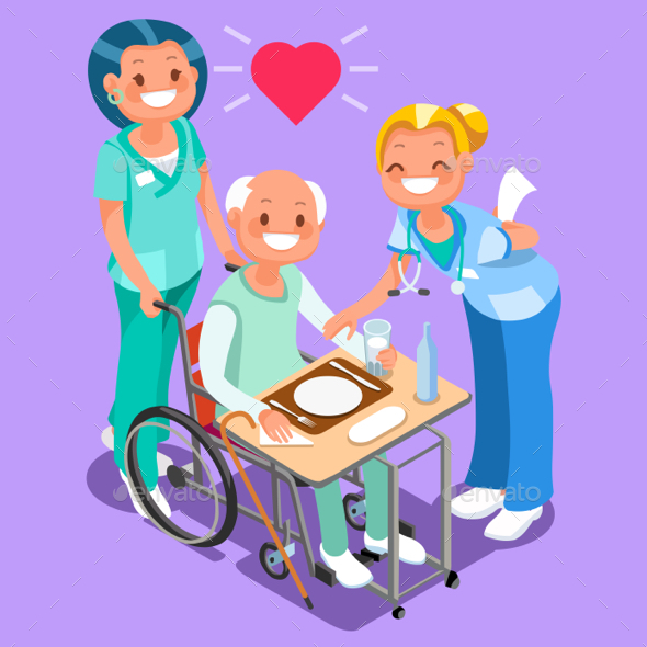 Nurses Group of Doctors Team Isometric People - Vectors