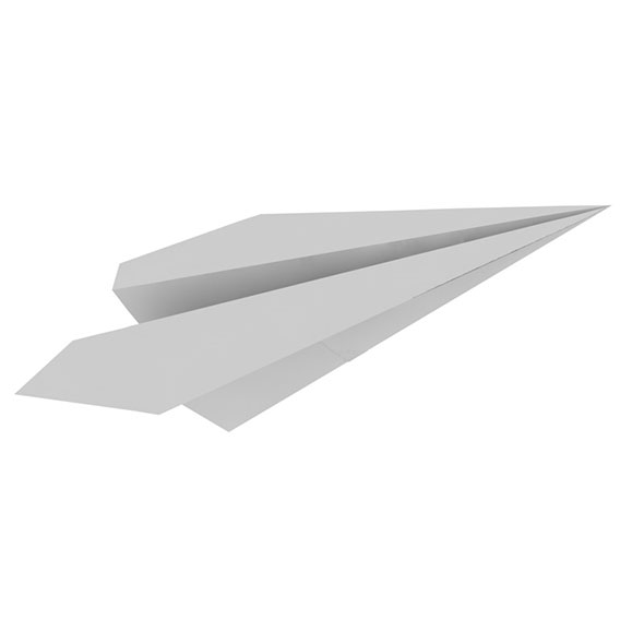 Paper airplanes planes 3d model - 3DOcean Item for Sale