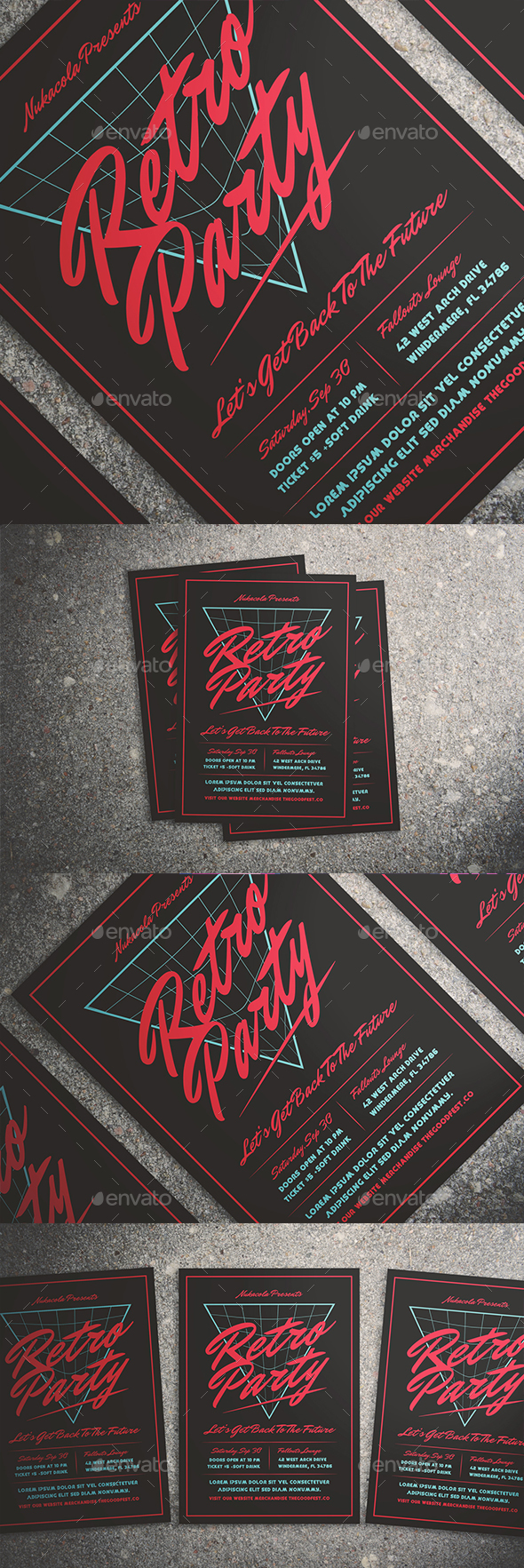 GraphicRiver 80's Music Flyer 20568014