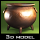 Halloween Witch Pot Realistic Model - 3DOcean Item for Sale