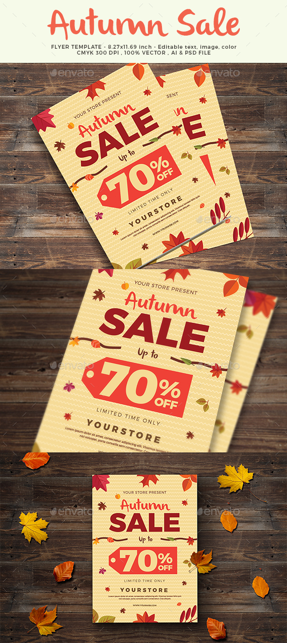 Autumn Sale Flyer - Commerce Flyers