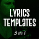 Lyrics Templates (3 Versions) - VideoHive Item for Sale