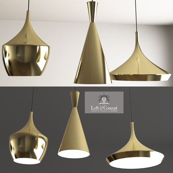 Beat Light Brass DESIGNED BY TOM DIXON. - 3DOcean Item for Sale