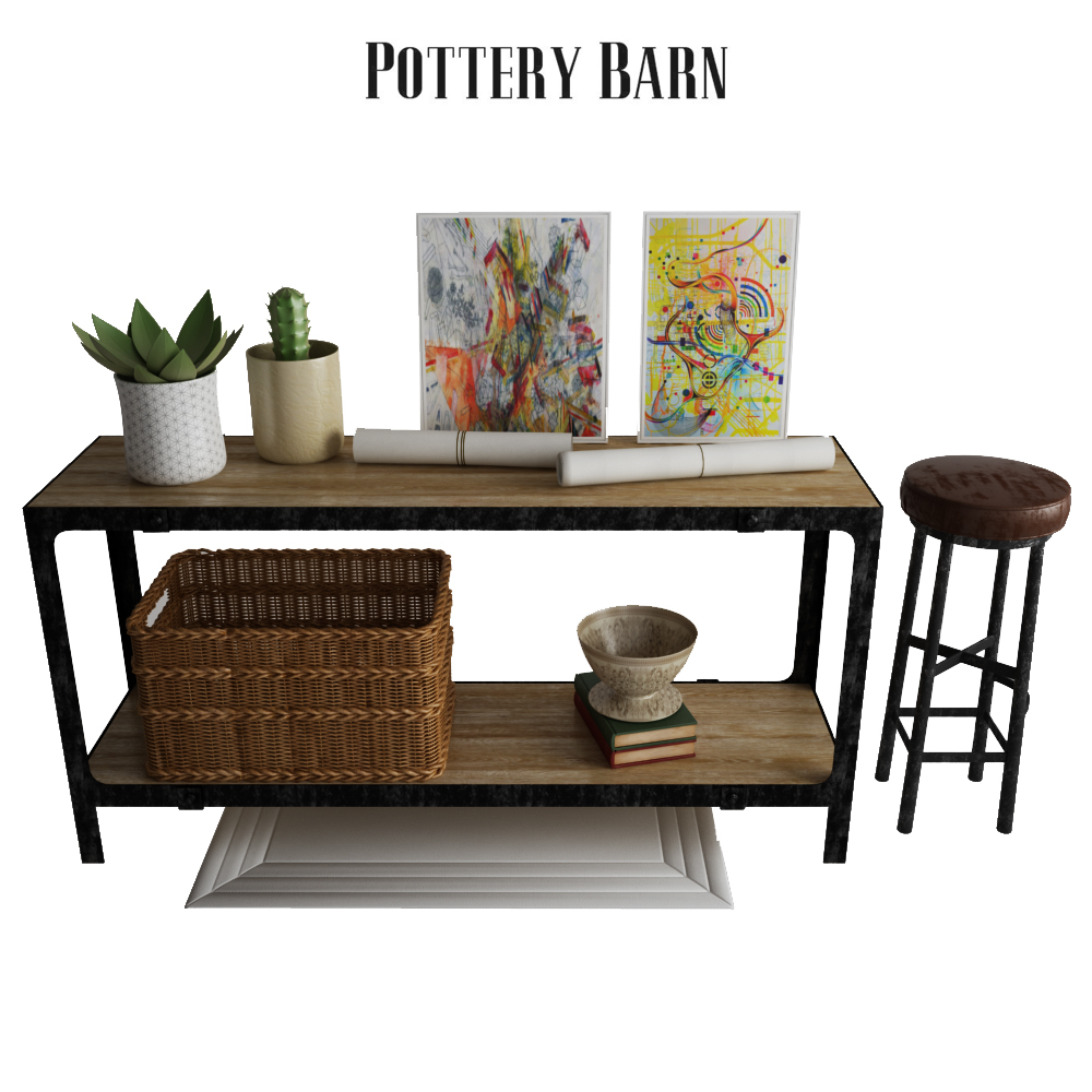 Pottery Barn Clint Reclaimed Wood Console Table By ErkinAliyev - Pottery barn clint coffee table