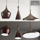 Copper Pendant Lamp Beat Light DESIGNED BY TOM DIXON - 3DOcean Item for Sale